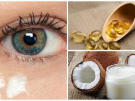 Натуральный крем на основе кокосового масла для кожи вокруг глаз