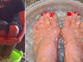 Японская техника: окуните ноги в эту смесь и очистите весь организм